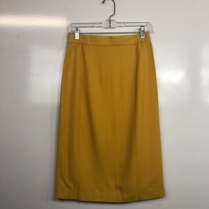 Yellow Dressy Skirt With Inner Lining